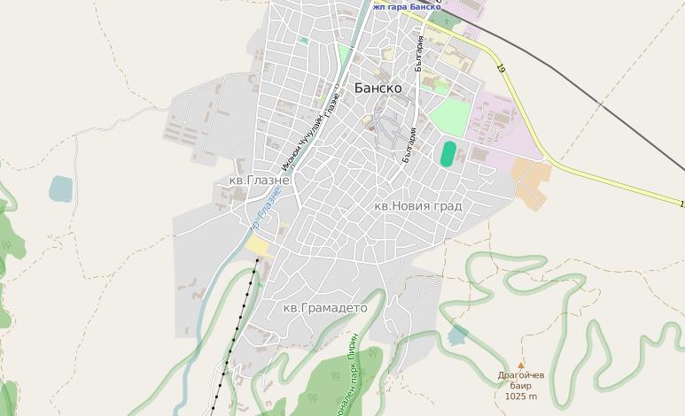 Карта на град Банско